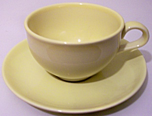 RUSSEL WRIGHT POTTERY IROQUOIS LEMON CUP/SAUCER SET! (Image1)