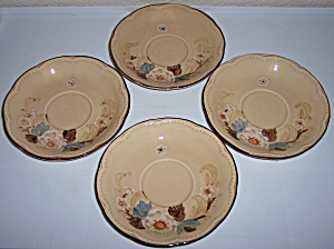 FRANCISCAN POTTERY BOUQUET SET/4 SAUCERS! (Image1)