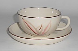 WINFIELD CHINA POTTERY DRAGON FLOWER CUP/SAUCER SET! (Image1)