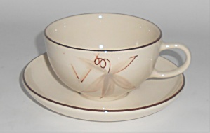 Winfield China Pottery Passion Flower Cup & Saucer Set