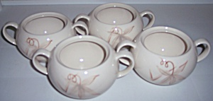 WINFIELD CHINA POTTERY PASSION FLOWER SET/4 SUGAR BOWLS (Image1)