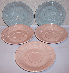 FRANCISCAN POTTERY REFLECTIONS SET/5 SAUCERS! (Image1)