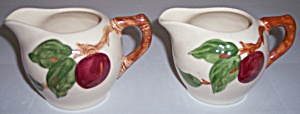 Franciscan Pottery Apple Individual Pair Creamers