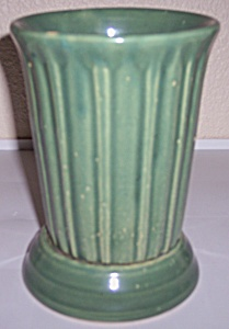 Garden City Pottery Jade Footed Ribbed Vase