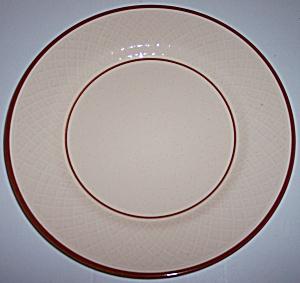 FRANCISCAN POTTERY CHESTNUT WEAVE DINNER PLATE! (Image1)