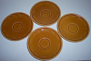 FRANCISCAN POTTERY WHEAT HARVEST BROWN SET/4 SAUCERS! (Image1)