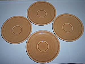 FRANCISCAN POTTERY WHEAT SUMMER TAN SET/4 SAUCERS! (Image1)