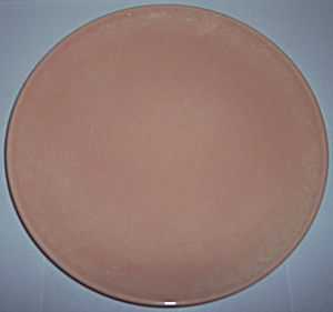 FRANCISCAN POTTERY EL PATIO GLOSS CORAL CHOP PLATE! (Image1)