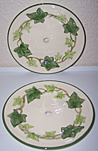 FRANCISCAN POTTERY IVY U.S.A. PAIR BREAD PLATES! (Image1)