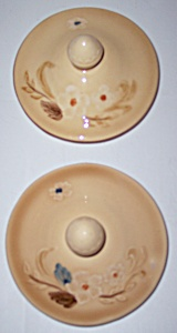 FRANCISCAN POTTERY BOUQUET PAIR SUGAR BOWL LIDS! (Image1)