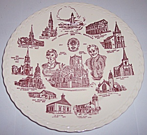 VERNON KILNS POTTERY CHURCH IMMACULATE CONCEPTION PLATE (Image1)