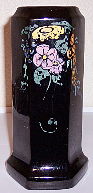 Peters And Reed Pottery Mirror Black Ware #56 Vase