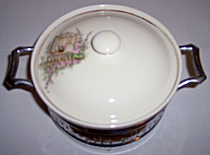 COORS POTTERY THERMO PORC OPEN WINDOW CASSEROLE W/LID! (Image1)