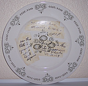 Franciscan Pottery Heritage Experimental Dinner Plate