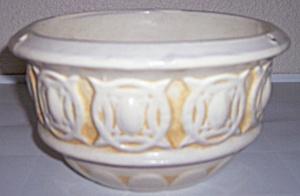 Peters And Reed Pottery Ivory Hanging Flower Pot #108