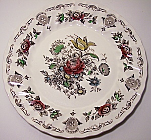 FRANCISCAN POTTERY BOUQUET ENGLAND DINNER PLATE! (Image1)