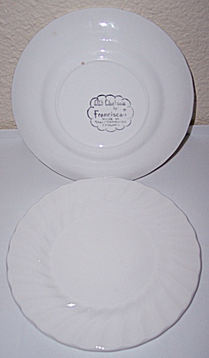 FRANCISCAN POTTERY OLD CHELSEA BREAD PLATE! (Image1)