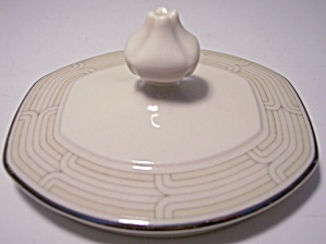 FRANCISCAN POTTERY FINE CHINA QUADRILLE SUGAR BOWL LID! (Image1)