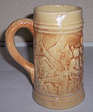 HULL POTTERY EARLY UTILITY ALPS BEER STEIN! (Image1)