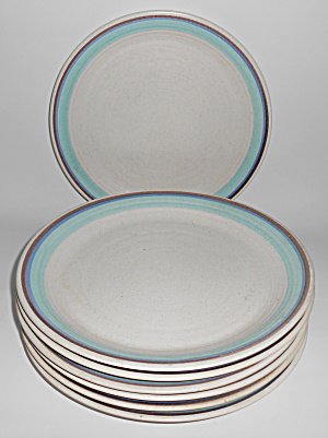 Franciscan Pottery Set/7 Malubu Dinner Plates