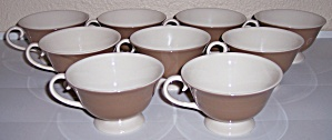 FLINTRIDGE CHINA SET/9 COCOA PORCELAIN CUPS! (Image1)