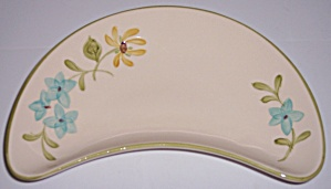 FRANCISCAN POTTERY DAISY CRESCENT SALAD PLATE! (Image1)