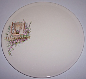 COORS POTTERY THERMO PORCELAIN OPEN WINDOW CAKE PLATE! (Image1)
