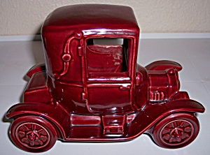Metlox Pottery Poppy Trail Maroon Vintage Ford Planter