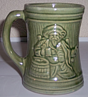 McCOY POTTERY EARLY ALPS GREEN BEER MUG! (Image1)