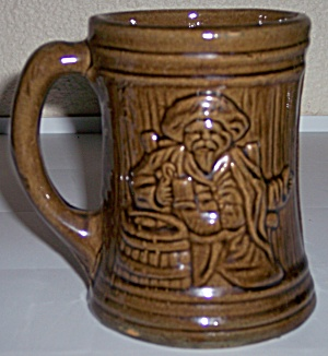 McCOY POTTERY EARLY ALPS BROWN BEER MUG! (Image1)