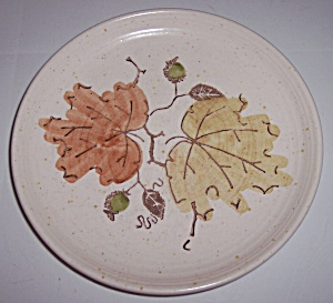 METLOX POPPY TRAIL POTTERY WOODLAND GOLD BREAD PLATE! (Image1)