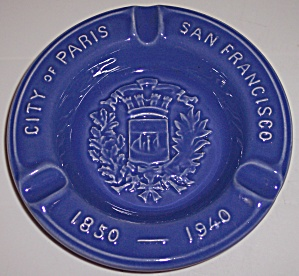 Metlox Poppy Trail Pottery San Francisco/paris Ashtray