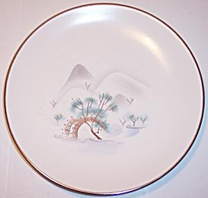 SASCHA BRASTOFF POTTERY PORCELAIN JADE TREE BREAD PLATE (Image1)