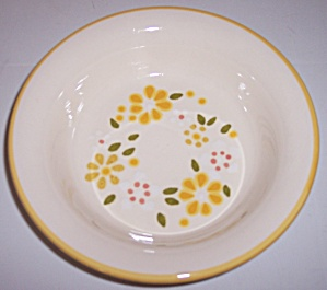 Franciscan Pottery Daisy Wreath Cereal Bowl