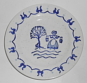 Metlox Pottery Poppy Trail Provincial Blue Bread Plate
