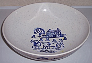 Metlox Poppy Trail Pottery Provincial Blue Salad Bowl