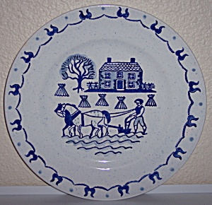 Metlox Poppy Trail Pottery Provincial Blue Dinner Plate