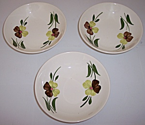 STETSON CHINA SET/3 SUNNY SPRAY FRUIT BOWLS! (Image1)