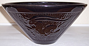 HULL POTTERY BLACK ZODIAC/ASTROLOGY ART BOWL! (Image1)