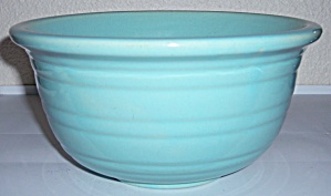 GARDEN CITY POTTERY WIDE RING LT BLUE MIXING BOWL! (Image1)