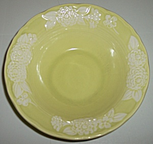 METLOX POTTERY POPPY TRAIL FLORA LACE CEREAL BOWL! (Image1)