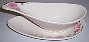 Metlox Pottery Poppy Trail Peach Blossom Gravy Bowl