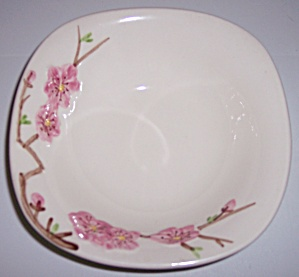 Metlox Pottery Poppy Trail Peach Blossom Cereal Bowl