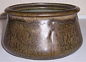 WELLER POTTERY METALLIC GLAZE ART BOWL! (Image1)