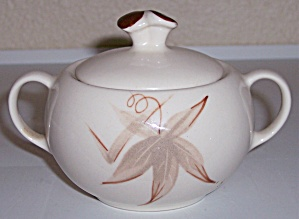 WINFIELD CHINA POTTERY PASSION FLOWER SUGAR BOWL W/LID! (Image1)