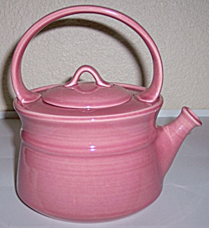 Metlox Poppy Trail Pottery Colorstax Rose Teapot W/lid