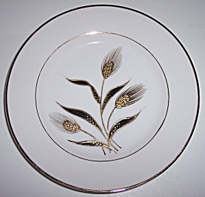 KUTANI CHINA GOLD WHEAT DECORATED BREAD PLATE! (Image1)