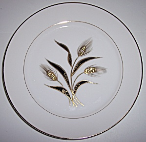 KUTANI CHINA GOLD WHEAT DECORATED SALAD PLATE! (Image1)