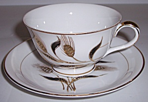 KUTANI CHINA GOLD WHEAT DECORATED CUP/SAUCER SET! (Image1)
