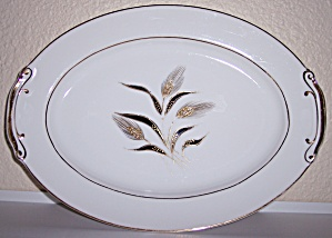 KUTANI CHINA GOLD WHEAT DECORATED PLATTER! (Image1)